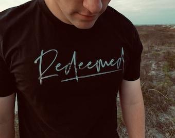 43d5e8440 Men's Christian T Shirt - Redeemed - Father's Day T Shirt - Redeemed Christian  T Shirt - Men's Graphic Tee - Men's Redeemed Shirt