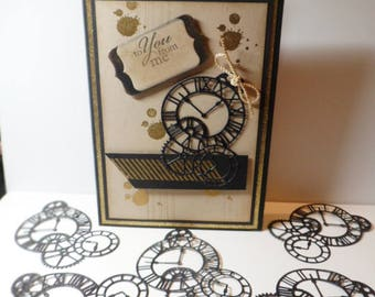 "4/"" x 4 3//8/"" Clock Hands Bare Unfinished Chipboard Die Cuts {3}  CLOCKS"