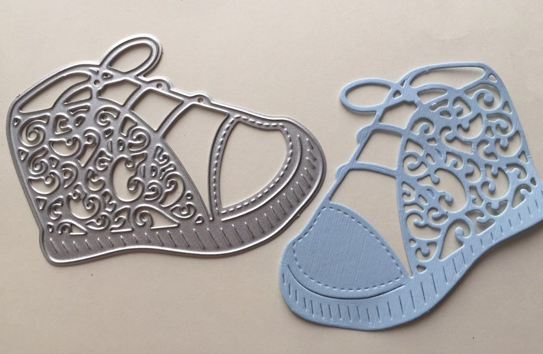 Baby Shoe Cutting Die Baby Shoe cutting die for DIY projects Baby Shoe Metal Die Cut Baby Shower Favours
