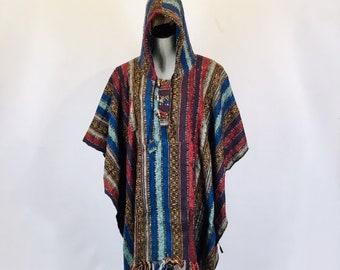 Hooded Poncho Etsy