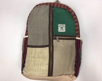 Nepal Himalayan hand crafted Hemp backpack laptop bag rucksack eco friendly