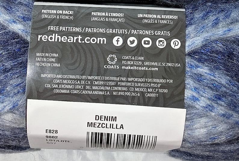 Red Heart Infinity Denim 3 Skeins 129 yds