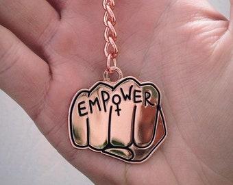 Keyring Bag Charm Decoration Rosie Riverter Feminist empower gift We Can Do It