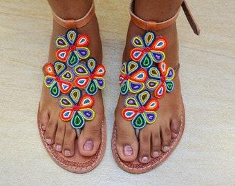 bed2ef7e066c6 Flower Maasai Sandals