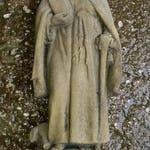 V 20 art antique sandstone look sculpture of Saint of Antonius hermit
