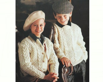 CHILDREN/'S CHRISTMAS SNOWMAN JUMPER//SWEATER DK KNITTING PATTERN AGES 2-13 YEARS