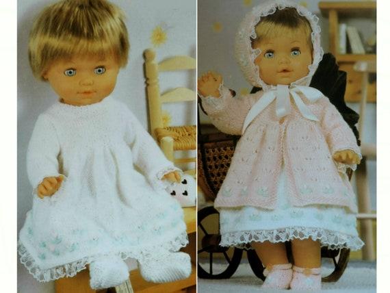 "Vintage 1950s Lavenda Baby Knitting Pattern 18-20/"" Matinee jackets socks Repro"