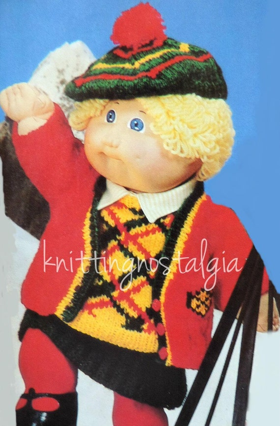 Vintage Vogue Knitting Pattern Cabbage Patch Kids Dolls Etsy