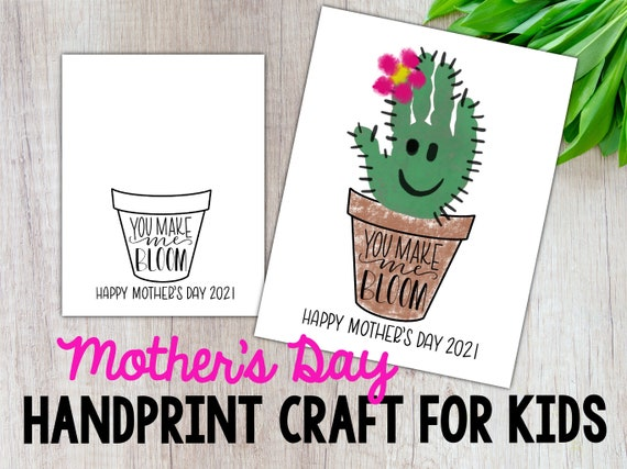 Mothers Day Craft DIY Handprint Craft Mothers Day