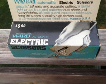 Vintage Montgomery Ward sewing electric scissors 16-6966