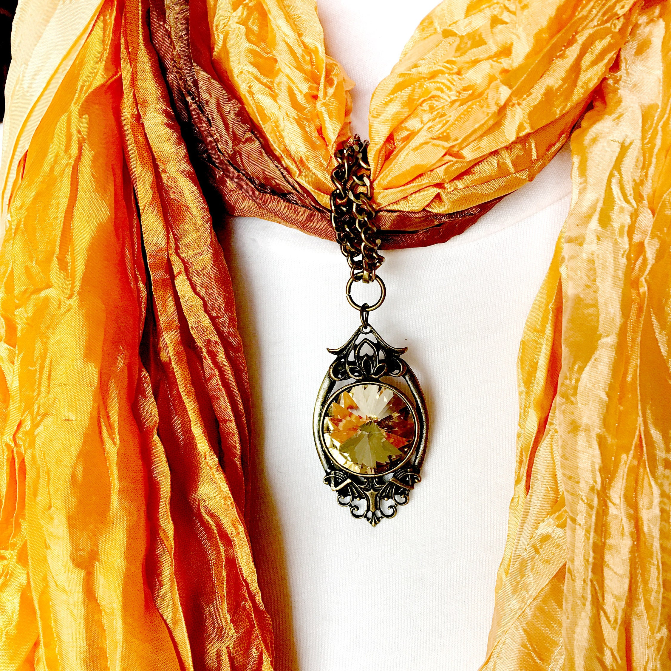 Yellow topaz scarf pendant scarf jewelry ring gold scarf slide yellow topaz scarf pendant scarf jewelry ring gold scarf slide scarf necklace jewelry scarves for women gold scarf clip aloadofball Images