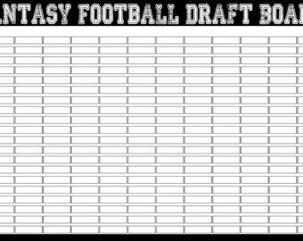 picture about Printable Fantasy Football Draft Boards referred to as Soccer draft board Etsy