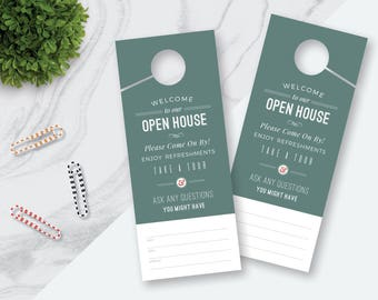 Realty Door Hanger Etsy - Real estate door hanger templates