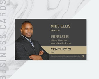 Century 21 business cards template vertical real estate gallery card pdf made to order century 21 business card real estate realtor custom printable digital file flashek Image collections