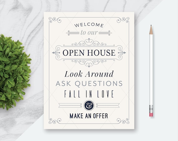 graphic relating to Welcome to Our Open House Printable titled 12 Genuine Estate Welcome in direction of Our Open up Room Printables, Welcome towards Open up Room  Be sure to Signal Inside, Be sure to Take away Your Footwear, Swirly_Product_Gray