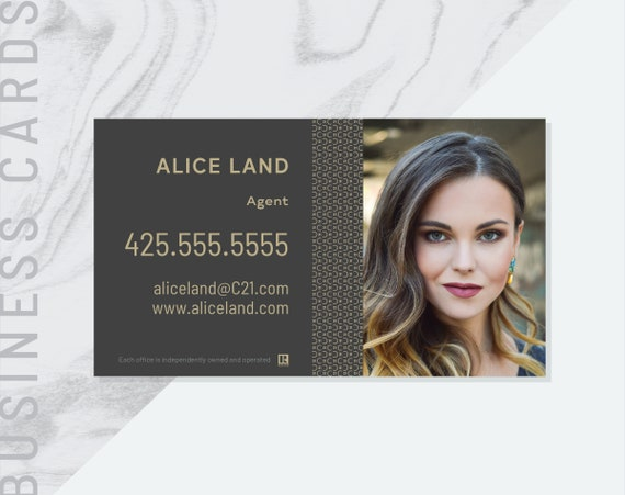 Pdf Made To Order Century 21 Business Card Real Estate Etsy