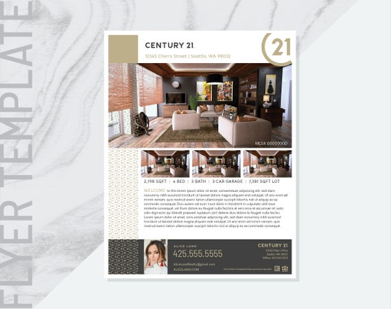 ai real estate flyer template real estate flyer template etsy