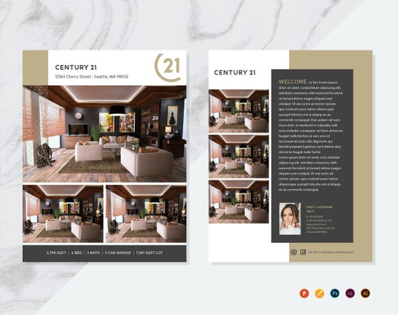 century 21 real estate flyer template real estate flyer etsy