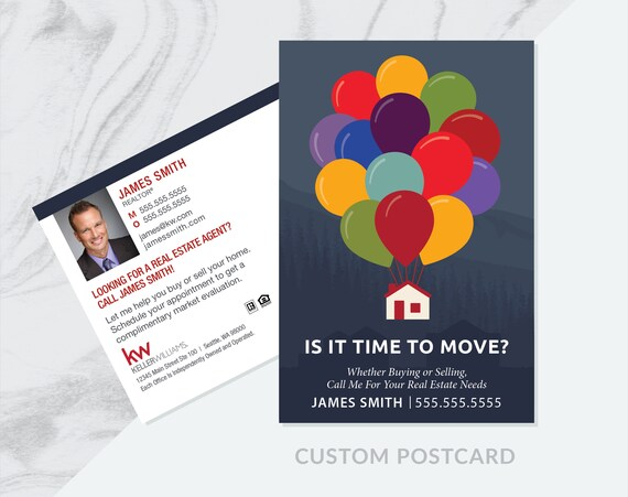 Custom Time To Move Real Estate Prospecting Postcards Realty Prospecting Cards Prospecting Marketing Real Estate Farming Postcards 6 X4