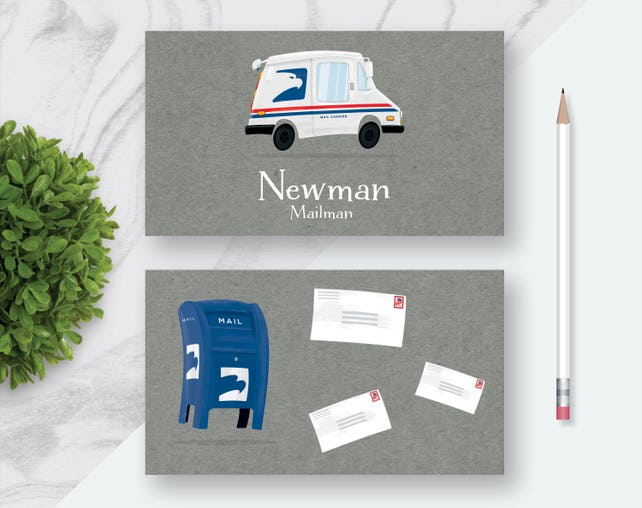 Mailman personalized business cards fun business cards for etsy image 0 colourmoves
