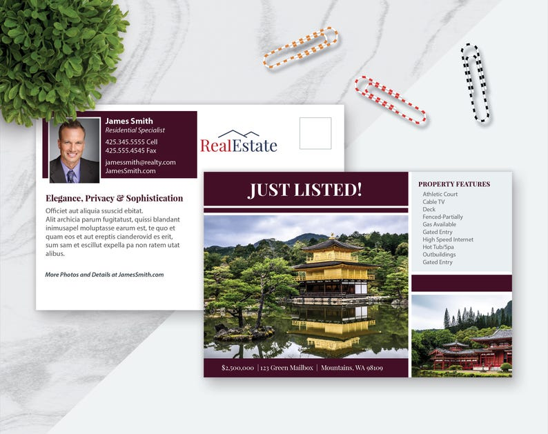 Real Estate Postcard Template from i.etsystatic.com