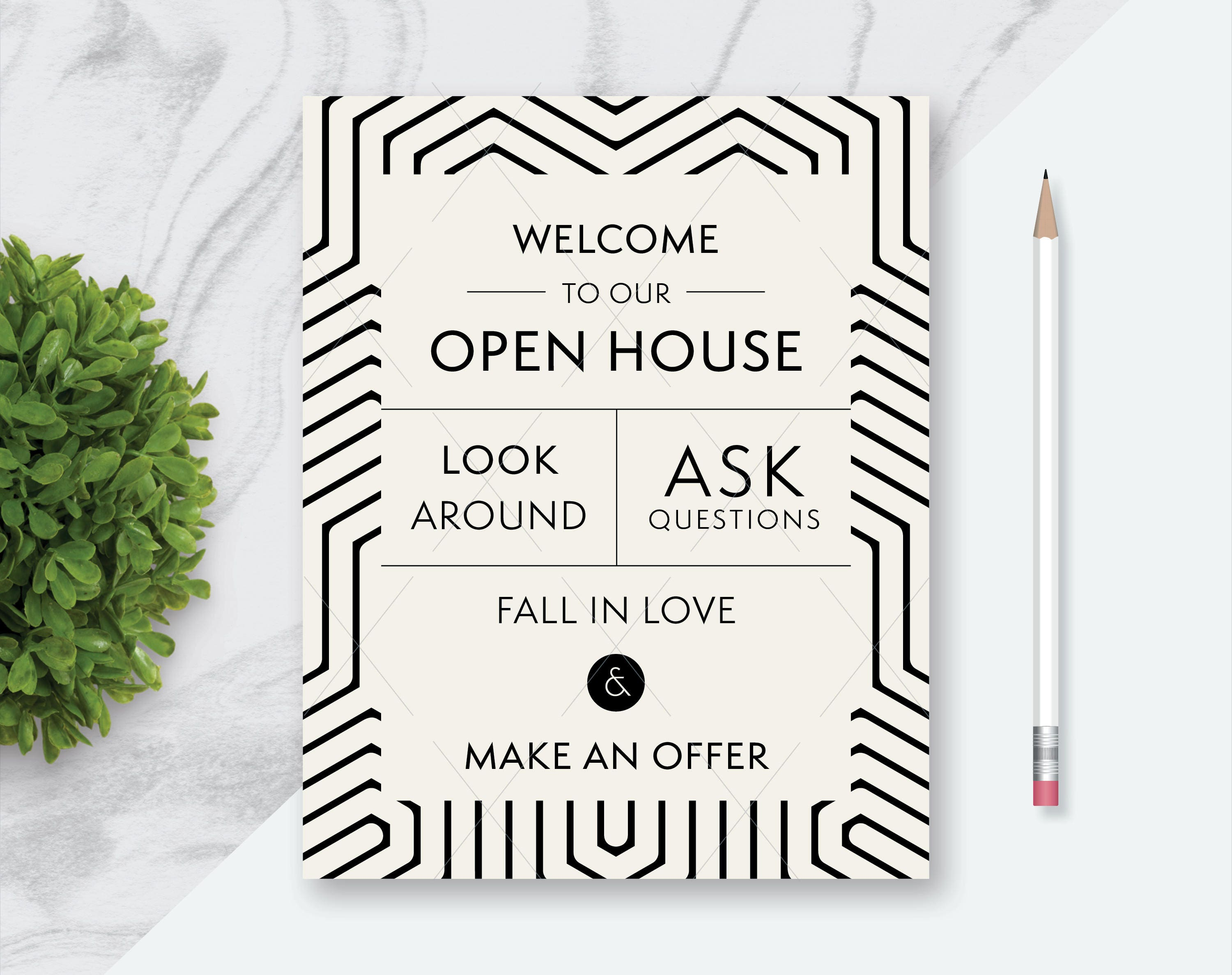 picture about Welcome to Our Open House Printable named Legitimate Estate \