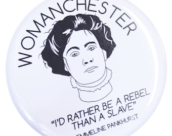 00103336f Womanchester Emmeline Pankhurst Magnet - Made in UK - Manchester Northern  Gift Mancunian Manc Votes for Women Feminist Suffragette Feminism