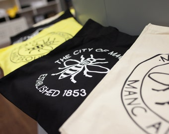 Manc and Proud Logo Tote Bag - 4 Colours Available