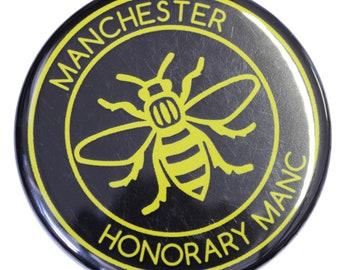 Honorary Manc Yellow Manchester Bee Magnet - Made in UK - Manchester Northern Gift Mosaic Bee Mancunian Hacienda Manc & Proud