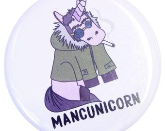 Mancunicorn Fridge Magnet - Made in UK - Manchester Bee Northern Gift Mosaic Bee Mancunian Hacienda Unicorn Liam Gallagher Oasis Parka Manc