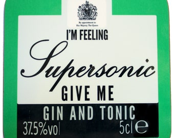 Supersonic Square Coaster - Liam Gallagher Oasis Manchester Manc and Proud Northern Quarter Madchester '90s Britpop Indie City Mancunian Gin