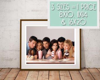 Friends TV Cast on New York Skyscraper Poster 24x36