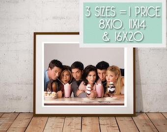 Friends TV Show Art Print Poster Digital Download Instant