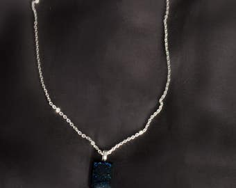 Midnight Blue Glitter Pendant