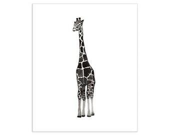 Black & White Giraffe Art Print