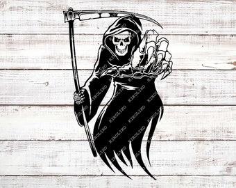 257920816 Grim Reaper Svg File - Skull Svg - Grim Reaper Decal - Halloween Svg - Death  Svg - Skeleton Svg - Svg For Cricut - Svg For Silhouette - DXF
