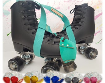 Roller Skate Kit Leather Toe Guards + Carry Leash Made in England (more colours on my other listing page)