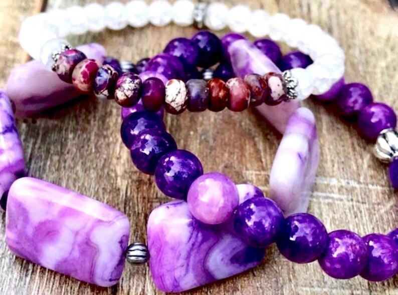 Healing My Heart /& Soul Beaded Stacking Bracelets
