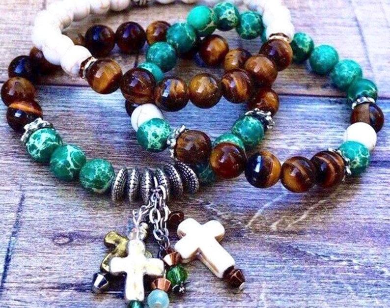 Beaded Jewelry Boho Bracelets Beaded Bracelets Little Crosses