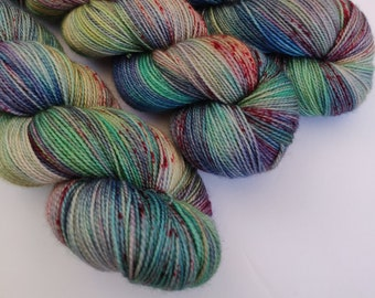 Will the Clown Approach The Bench - Superwash Merino Wool - Hand Dyed Yarn - Golden Girls inspired colors