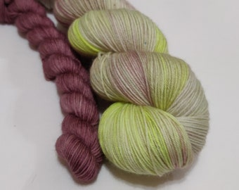 Go To Sleep, Sweetheart - Sock Set - Superwash Merino Wool - Hand Dyed Yarn - Golden Girls inspired colors