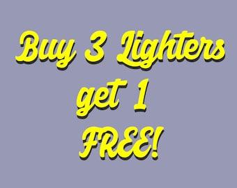 Buy 3 Lighters Get 1 Free! Custom Grab Bag! Handmade Bic Lighter. 04a65b1e0b70