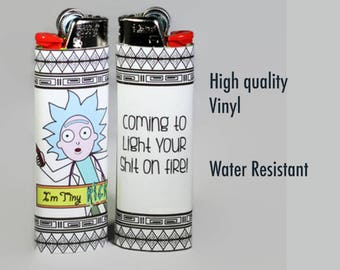 Tiny Rick Custom Bic Lighter / Rick and Morty Lighter / High Quality / Handmade / Rick Sanchez