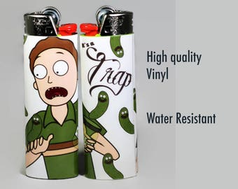 Pickle Rick & Jerry Lighter/ Rick and Morty / Pickle Rick Gift / Gifts for Him / Gifts for Her / Rick Sanchez / High Quality / Funny