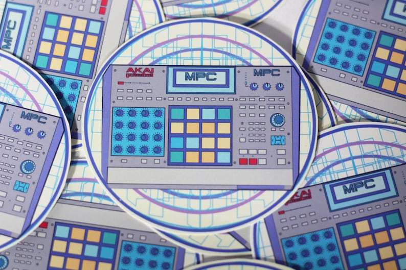 Akai Mpc Sticker / Stickers / Music Stickers / Producer / DJ / Beatmaker /  Hip Hop / Music Festival