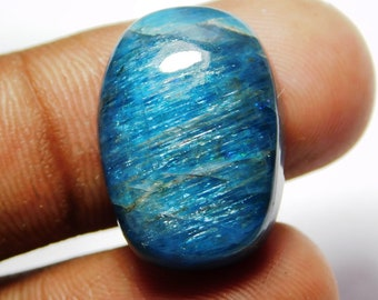 Classic Top Grade Quality 100/% Natural Neon Blue Apatite Radiant Shape Cabochon Loose Gemstone For Making Jewelry 62.9 Ct 28X21X8 mm SB-3581