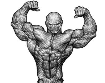 Ruthless Bodybuilding - Art Print