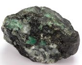 Nice emerald tube on quartz and mica, piece of 779 grams.