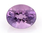 Oval-cut natural amethyst, weight: 3.20 ct.