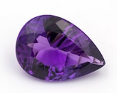 Natural amethyst of 8.35 ct. - Size: 17.86 x 12.71 x 7.61 mm. - Pear-cut. - Brazil.